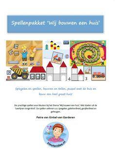 Spellenpakket, 'wij bouwen een huis', met zes educatieve spellen voor kleuters, kleuteridee