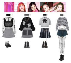 """""""BLACKPINK - AS IF IT'S YOUR LAST❤️"""" by vvvan99 ❤ liked on Polyvore featuring Moschino, Balenciaga, Raf Simons, 3x1, Yves Saint Laurent, Versace, Gucci, Dr. Martens, Annie Costello Brown and Marni"""