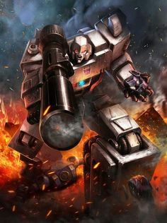 Decepticon Leader Megatron Artwork From Transformers Legends Game