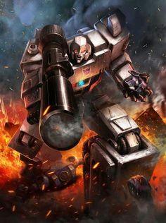 Decepticon Leader Megatron Artwork From Transformers Legends Game