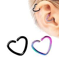 PVD Heart Cartilage Earring