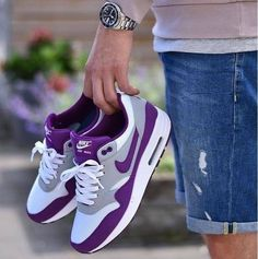low priced cdea8 3dbf1 Nike Air Purple and White - Chubster favourite ! - shoes for men -  chaussures pour homme -