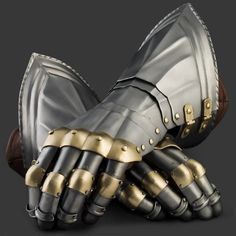 German Style Gauntlets with Brass