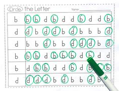 B and D reversals and confusion are so common in beginning readers and writers. Here's some activities that I use to help correct these errors in my struggling readers. Letter Identification, Preschool Special Education, First Grade Reading, Teaching Reading, Learning, Reading Fluency, Guided Reading, Letter Activities, Reading Intervention