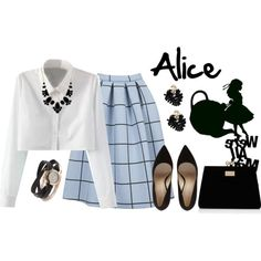 Alice by violetvd on Polyvore featuring Topshop, Forever New, La Mer, Dsquared2, Kate Spade and Ask Alice