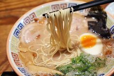 """Ramen is a Japanese dish with a translation of """"pulled noodles"""". It consists of Chinese wheat noodles served in a meat or fish-based broth Japanese Ramen, Japanese Dishes, Japanese Food, Shoyu Ramen, Tonkotsu Ramen, Ramen Restaurant, Best Ramen In Tokyo, Half Boiled Egg, Ramen Dishes"""