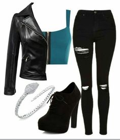 Cute Emo Outfits, Bad Girl Outfits, Really Cute Outfits, Teenager Outfits, Edgy Outfits, Girls Fashion Clothes, Teen Fashion Outfits, Looks Hip Hop, Mein Style