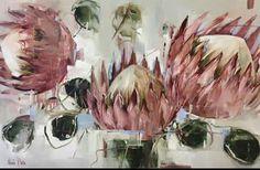 Flower Art, Art Flowers, Adult Coloring, Colouring, Art World, Art Day, Still Life, Contemporary Art, Feature Walls