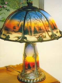 Reverse Painted Lamps On Pinterest Painted Lamp