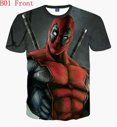 Funny Deadpool Dead Pool Parody Jaws shark attack Tee T-Shirt Adult Unisex