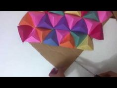 Wall Art 3D/Paper triangle wall art. - YouTube