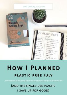 Learn how I began planning for Plastic Free July in my bullet journal. Participating in Plastic Free July has helped me create life-long habits. Taking small steps is the best way to change habits, and even small changes have the power to make a difference. #bulletjournal #bulletjournalcollection #bulletjournaling #plasticfreejuly #planning #todolist #reducereuserecycle #plasticfree #climatechange #reduceplastic #journaling #planner #notebook #bujo #habittracker Bullet Journal Notebook, Bullet Journal Printables, Bullet Journal How To Start A, Bullet Journal Layout, Bullet Journal Inspiration, Journal Ideas, Bullet Journals, Plastic Alternatives, Plastic Free July