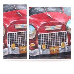 Kess InHouse Rosie Brown Vintage in Cuba Aluminum Floating Art Panels, 24 by 36-Inch by Kess InHouse, http://www.amazon.com/dp/B00DYRKZWE/ref=cm_sw_r_pi_dp_z1Ffsb1P05P64 #metal #art #car #vintage #cuba #homedecor #wallart #walls #kessinhouse