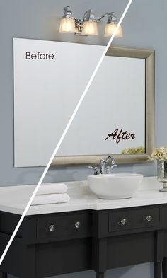 Frame A Bathroom Mirror In Minutes With MirrorMateu0027s Custom Mirror Frame  Kit. Frame Styles Made For The Bath. Guaranteed To Fit Your Existing Mirror.