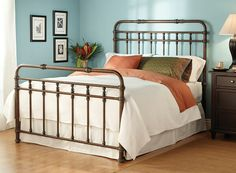 Iron Bed frame for Cabin Guest Room