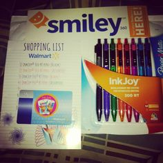 I received this for free for reviewing purposes! $5 Gift Card, Sample Pack of InkJoy® Pens, Smiley360 Sharing Guide :-) :-) thanks @mysmiley360 I can't wait to test these #Inkjoy pens! #Sponsored