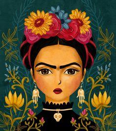 Viva la Frida Kahlo Paintings, Frida Art, Daily Drawing, Arte Popular, 5d Diamond Painting, Mexican Folk Art, Illustrations, Painting Inspiration, Digital Illustration