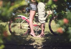 bike, couple, kiss me, love, nature, photography