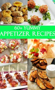 A collection of over 60 of the best appetizers recipes! Great for holidays, parties, and entertaining! Best Appetizer Recipes, Yummy Appetizers, Appetizers For Party, Yummy Snacks, Gourmet Recipes, Cooking Recipes, Vegetable Appetizers, Finger Food Appetizers, Finger Foods