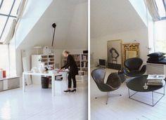 white loft workspace / office