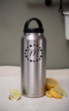 Stainless Water YETI or RTIC brand Laser Engraved Drink Travel Bottle Personalized Eco Friendly Gift Stainless Steel by SwissMissCloset on Etsy
