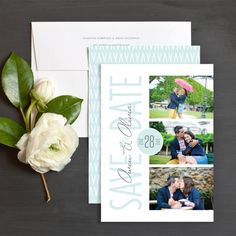 Sweet Overlay Save The Date Cards by Elizabeth Victoria Designs | Elli