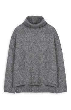 Primark - Camisola gola alta cinzento