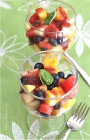 Wicked Yummy: Fresh Fruit Salad with Strawberry Basil Sauce