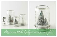 Under The Table and Dreaming: Anthropologie Inspired Snow Globe Ornaments featuring Mel from bliss bloom {blog} {Handmade Ornament No. 9}