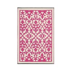 Fab Habitat Outdoor Rug ($45) ❤ liked on Polyvore featuring home, rugs, pink, woven mat, weave rug, woven area rugs, recycled rugs and pink area rug