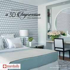 Add textured designs to your #Walls and give your #Home a 3D impression with #Marshalls #MatrixCollection. Explore more options on www.marshallswallcoverings.com #Wallpaper #WallDecor #HomeDecor #WallcoveringsCollection #HomeInterior #DesignWalaColour #MarshallsWallcoverings