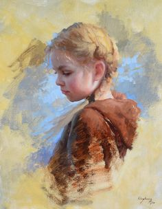 Summer's End by Marci Oleszkiewicz Oil 20 x OPA Online Showcase Painting Competition Finalist Painting People, Figure Painting, Painting & Drawing, Painting Trees, Portraits Pastel, Watercolor Portraits, Oil Painting Portraits, Oil Paintings, Art Du Monde