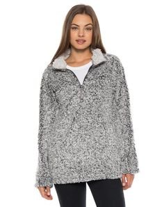Dylan XS Solid Frosty Tipped Stadium Pullover