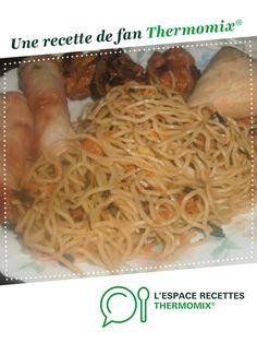 NOUILLES CHINOISES pour accompagnement par mamiekinder. Une recette de fan à retrouver dans la catégorie Pâtes & Riz sur www.espace-recettes.fr, de Thermomix<sup>®</sup>.