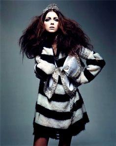 """Grunge Couture""Vogue Paris - March 2004Morgane Dubled by Craig McDean"