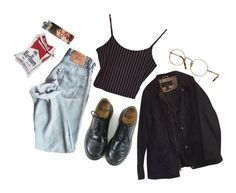 """❤️mrbr"" by vusvvv ❤ liked on Polyvore featuring Dr. Martens, Oliver Peoples and Barbour"