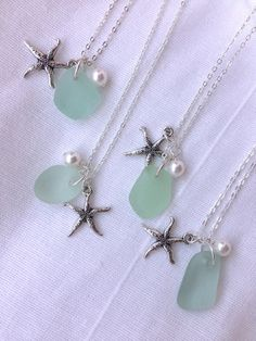 Hey, I found this really awesome Etsy listing at https://www.etsy.com/listing/186496789/starfish-and-sea-glass-necklace-tiffany