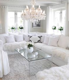 Beautiful white living room interior Get inspired Luxury Living Room, Home Living Room, Interior, Home, White Living Room Decor, Room Inspiration, House Interior, Apartment Decor, Interior Design