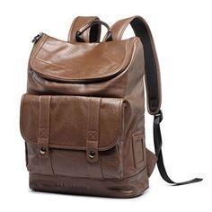 Men Leather Backpack Exquisite Craftsmanship Business Backpack Men Travel Bag