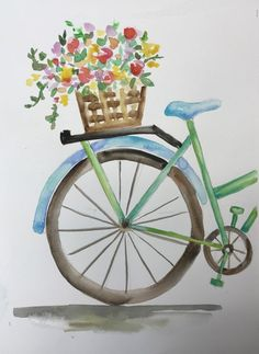40 Excellent But Simple Pastel Watercolor Paintings To Try This Year - Free Jupiter - Beginner painting Watercolor Pencil Art, Pastel Watercolor, Watercolour Painting, Painting & Drawing, Simple Watercolor Flowers, Watercolor Flowers Tutorial, Acrylic Painting Flowers, Watercolor Food, Pour Painting