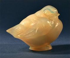 """French glass paperweight """"Shivering Bird"""" By Sabino"""
