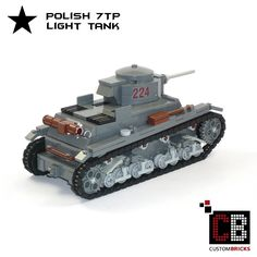 LEGO Custom WW2 Panzer Tank Polish 7TP CB2