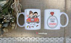¡Juntos para siempre! Con esta taza ideal como regalo para parejas recién casadas.