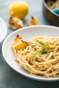 Upgrade your chicken alfredo pasta by turning it into Triple Lemon Alfredo! This unique citrus recipe is a lighter -- but still indulgent -- take on almost everyone's favorite food. Unique way to use citrus in a recipe too! You'll need lemons, butter, linguine or fettuccine, heavy cream, parmesan cheese, and dill.