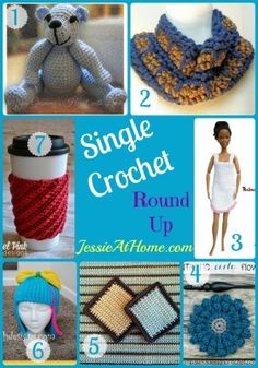 Single crochet is one of the first stitches most crocheters learn. It's great for a beginner to be able to make a finished item. So I have collected some patterns made mostly with single crochet. H...