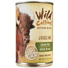 Wild Calling Canned Dog Food - Grassland 96% Buffalo - 13 oz - 12 ct