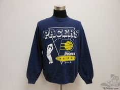 Vtg 90s Hanes Indiana Pacers Crewneck Sweatshirt sz XL Extra Large NBA Miller #Hanes #IndianaPacers #tcpkickz