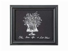She lived life in full bloom framed print.  On sale for $11.95!  Order here → https://www.dirtroaddivaboutique.com/ProductDetails.asp?ProductCode=FBFP