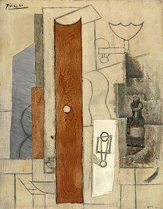 Pablo Picasso, Guitare, bec à gaz, flacon [Guitar, Gas-jet and Bottle] on ArtStack #pablo-picasso #art
