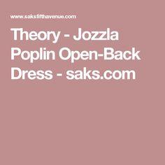 Theory - Jozzla Poplin Open-Back Dress - saks.com